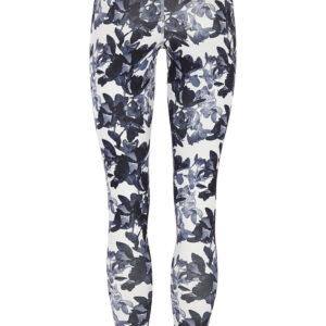 Grey Flower Leggings
